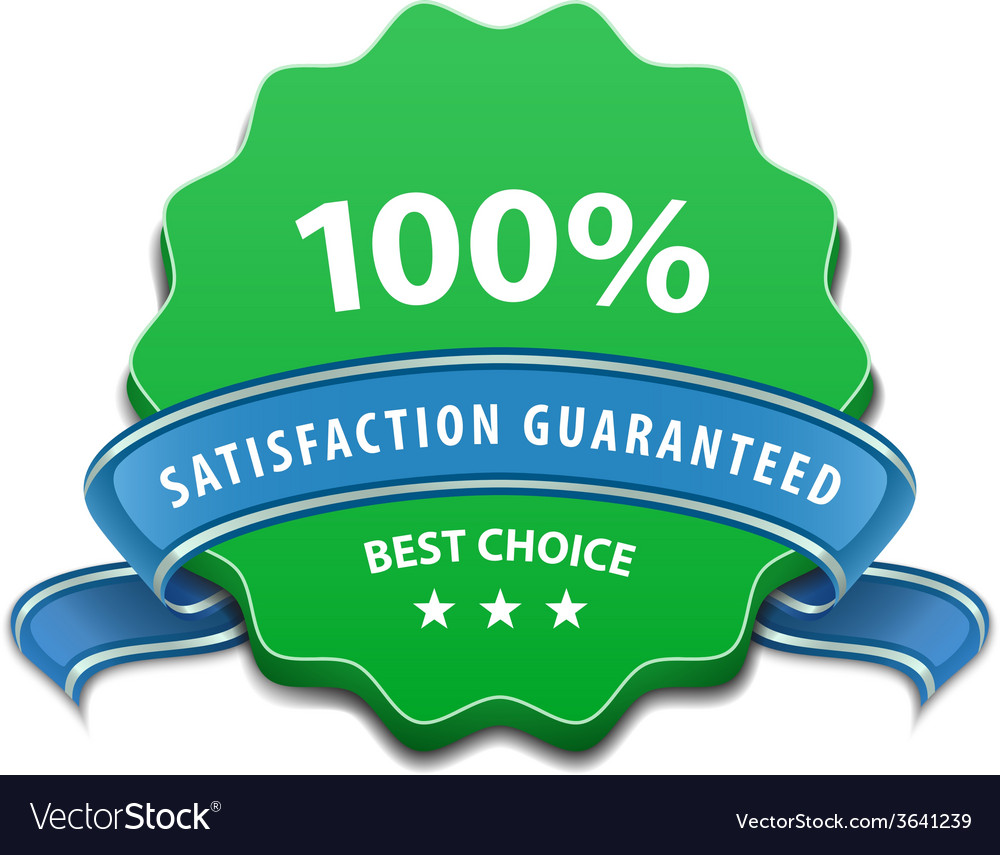 Satisfaction guaranteed sign vector | Price: 1 Credit (USD $1)