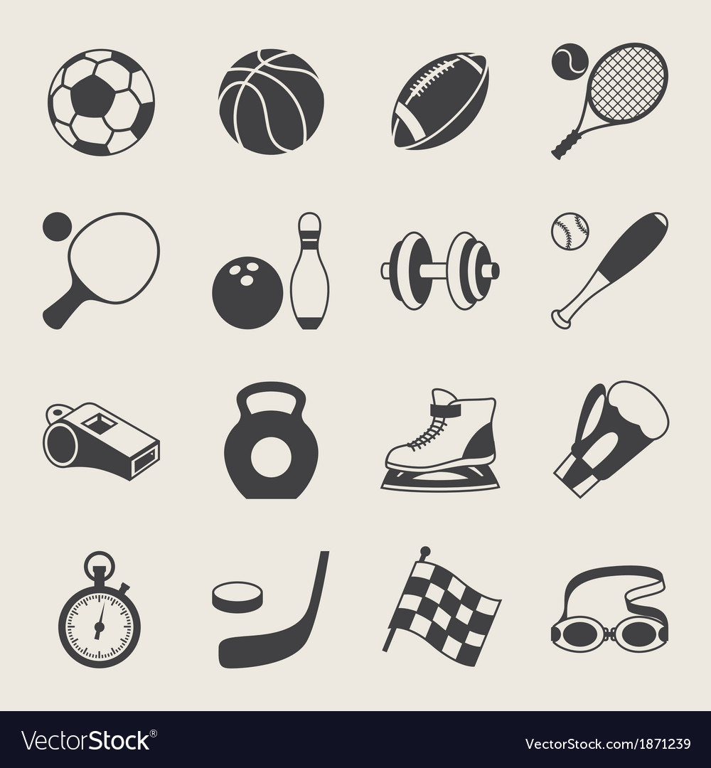 Set of sport icons vector | Price: 1 Credit (USD $1)