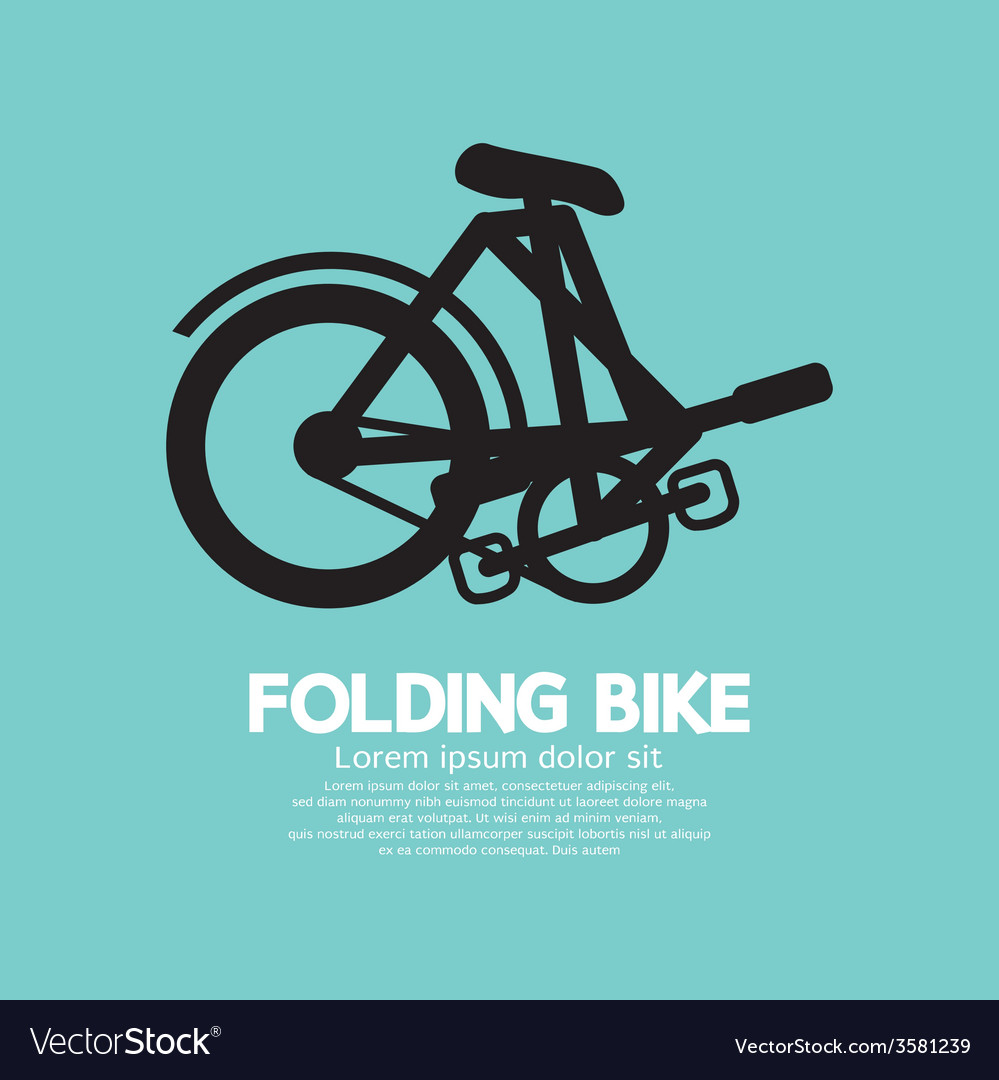 Single folding bike graphic vector | Price: 1 Credit (USD $1)