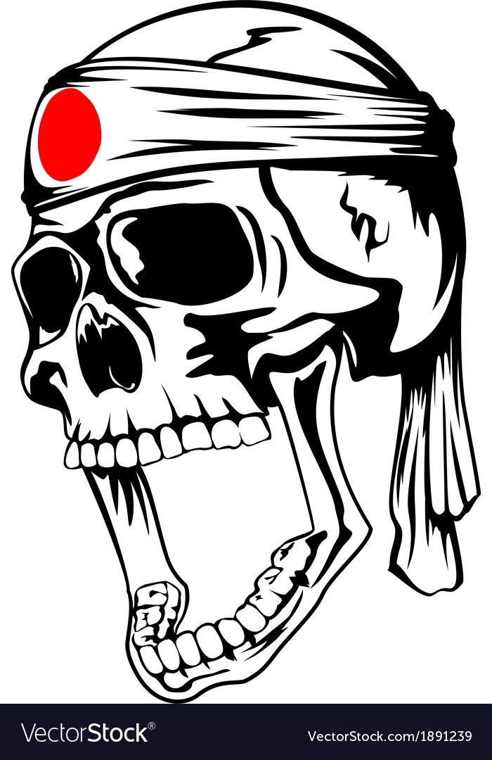 Skull with band vector | Price: 1 Credit (USD $1)