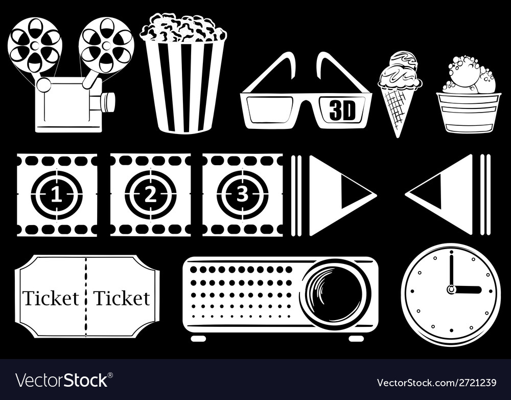 Things related to movies vector | Price: 1 Credit (USD $1)