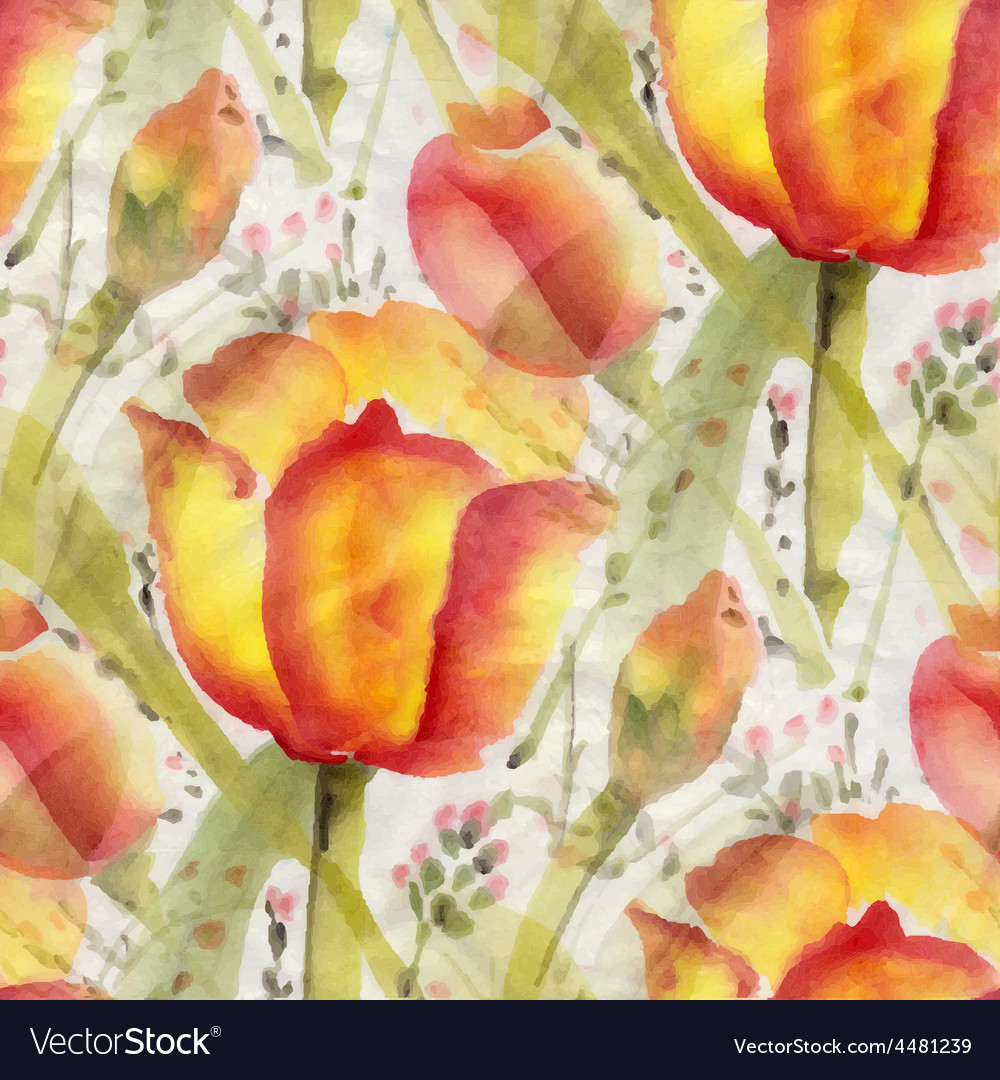 Watercolor flowers vector | Price: 1 Credit (USD $1)