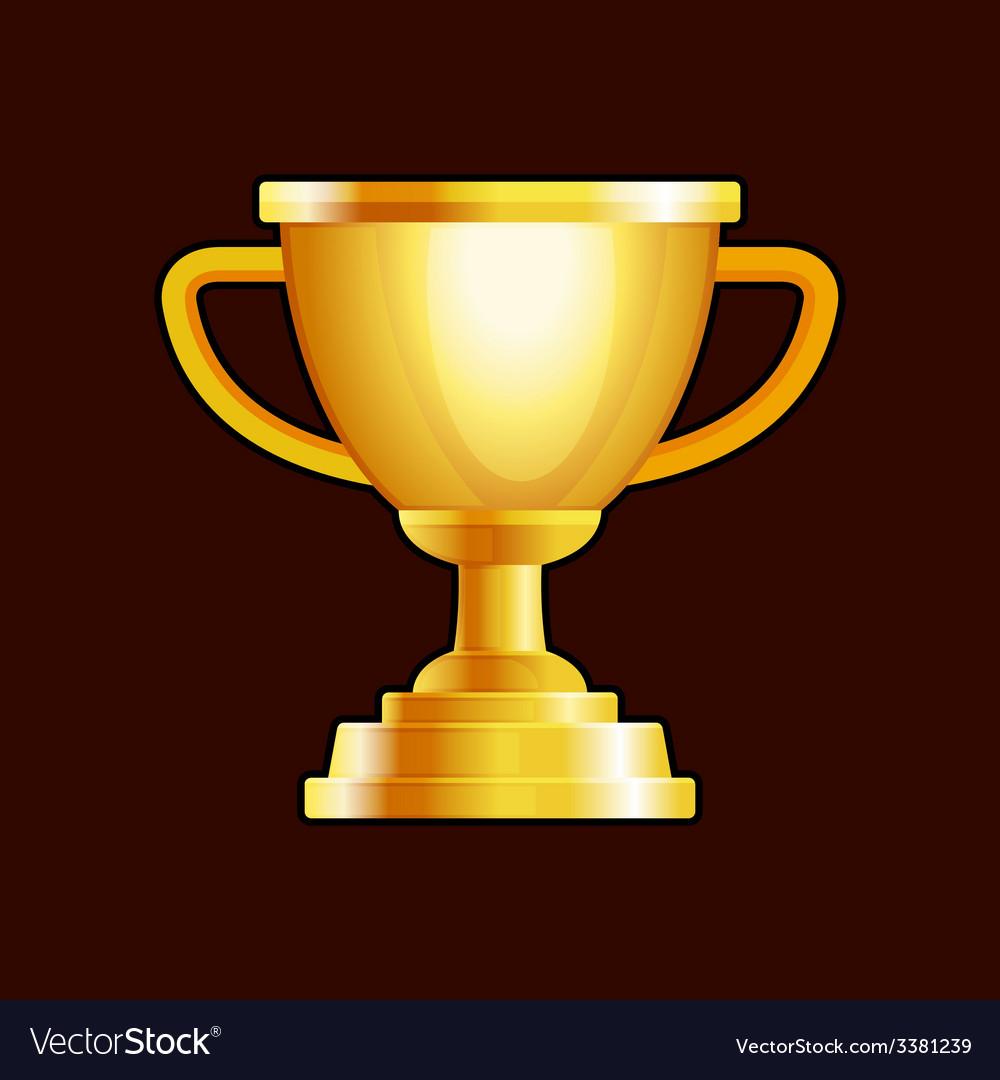 Winner gold cup on dark background vector | Price: 1 Credit (USD $1)