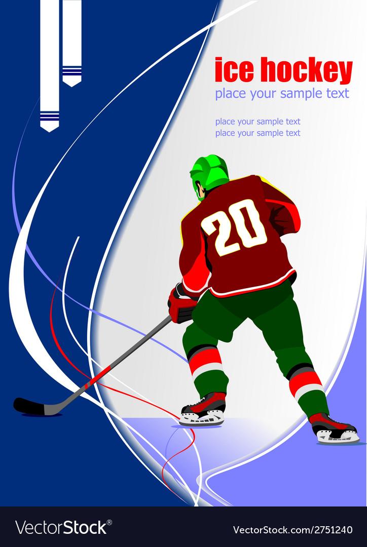 Al 0711 hockey poster vector | Price: 1 Credit (USD $1)