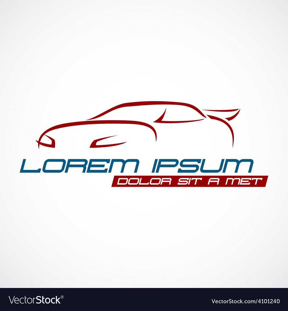 Car silhouette logo vector | Price: 1 Credit (USD $1)