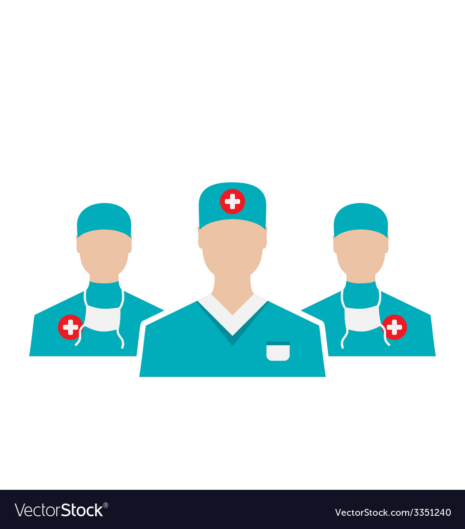 Icons set of medical employees in modern flat vector | Price: 1 Credit (USD $1)