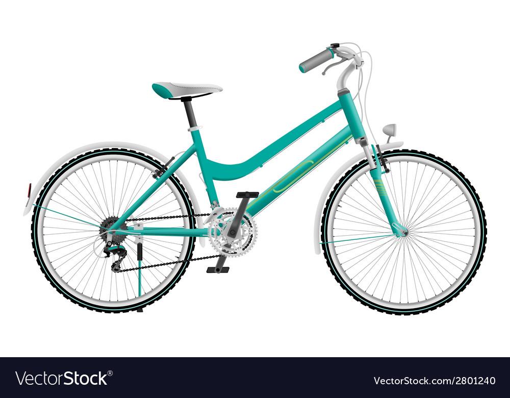 Ladys cyan sports bike vector   Price: 1 Credit (USD $1)