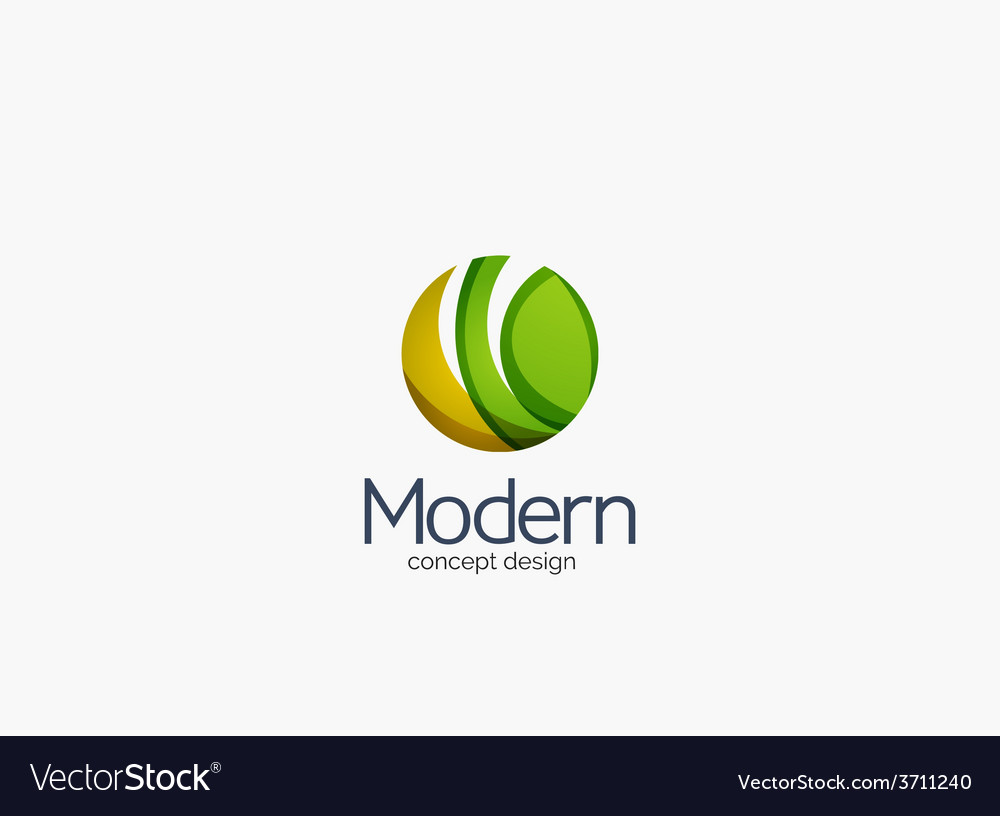 Modern cirlce company logo clean glossy design vector | Price: 1 Credit (USD $1)