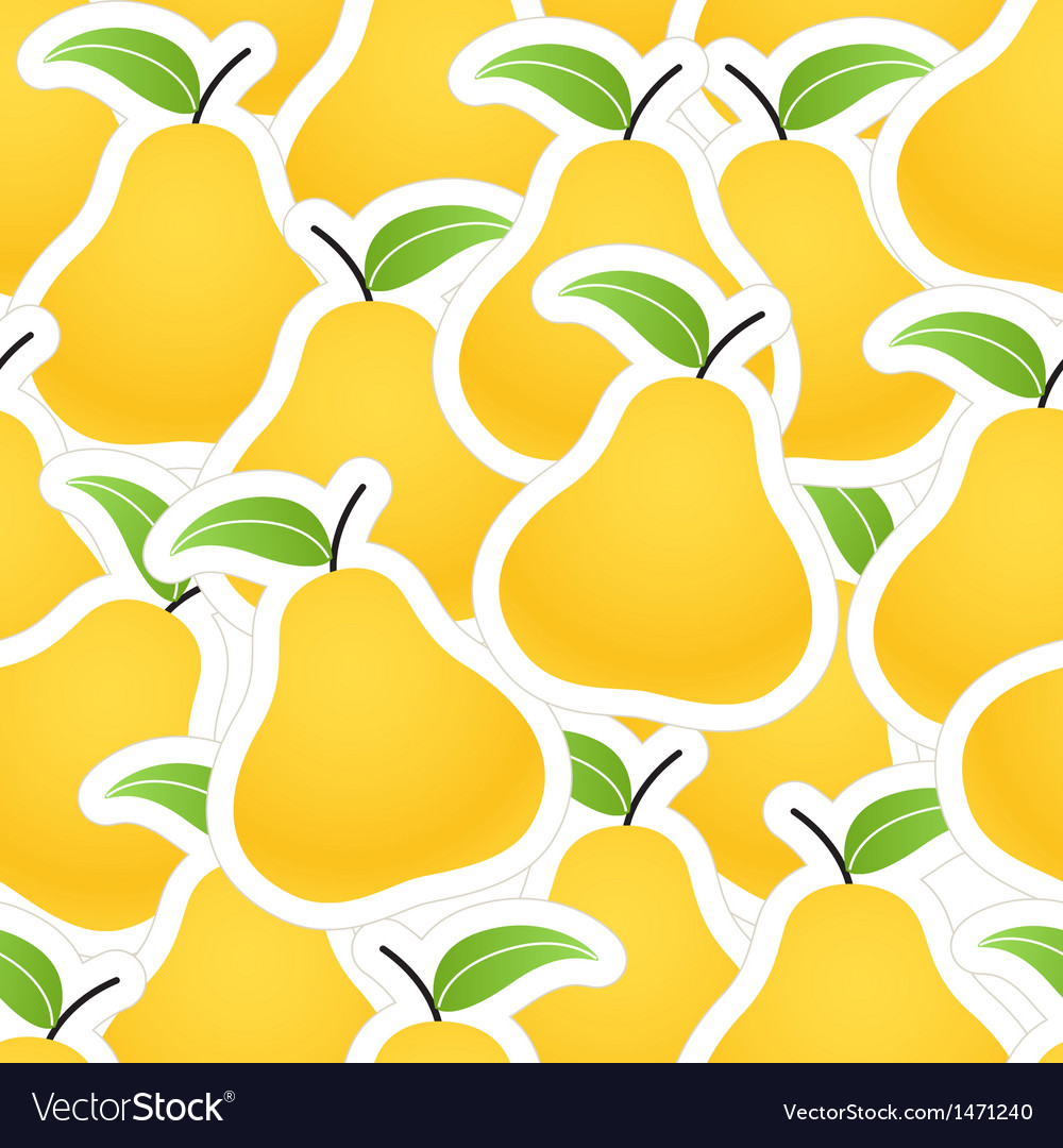 Orange pear seamless background vector | Price: 1 Credit (USD $1)