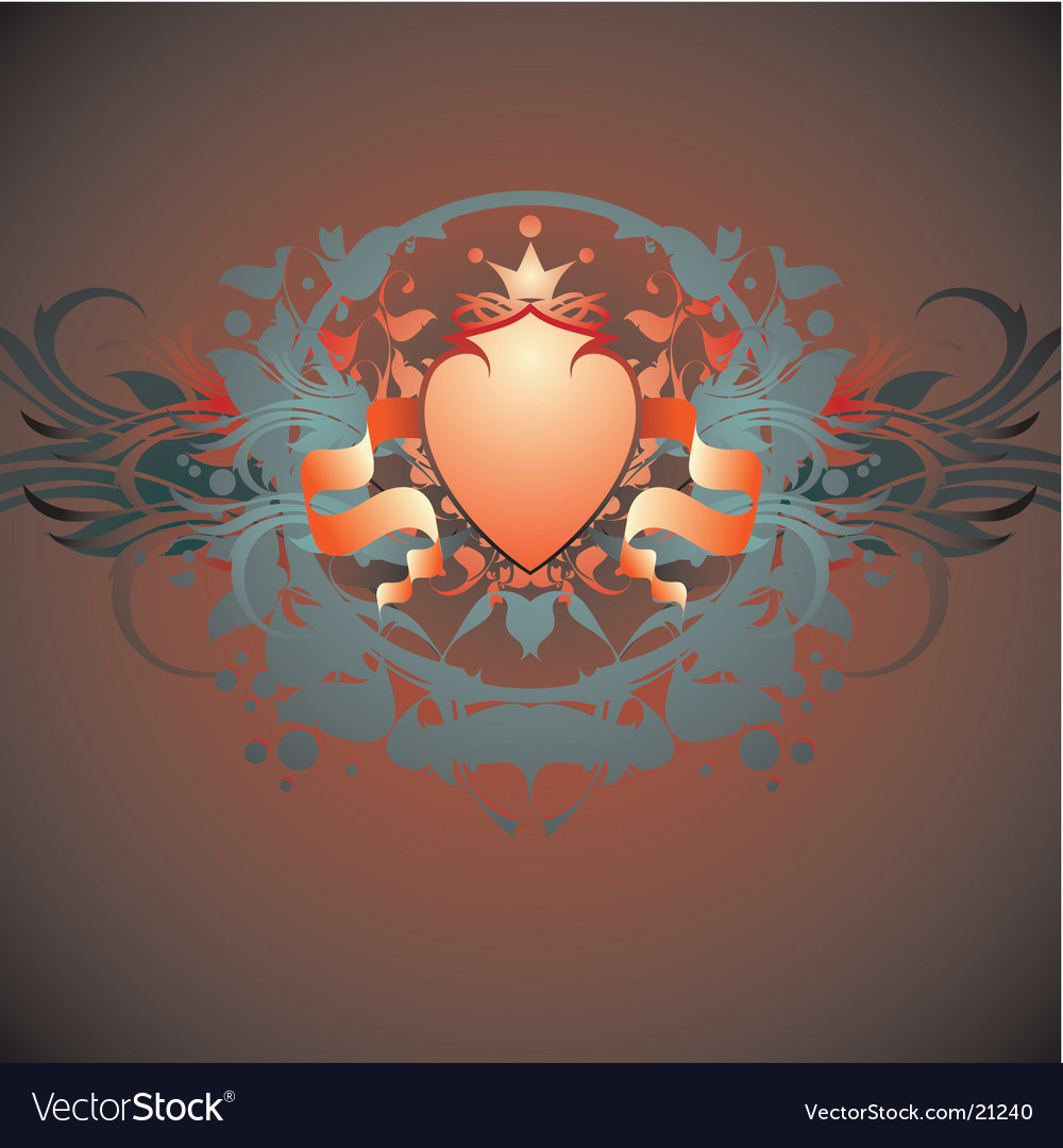 Ornate shield vector | Price: 1 Credit (USD $1)