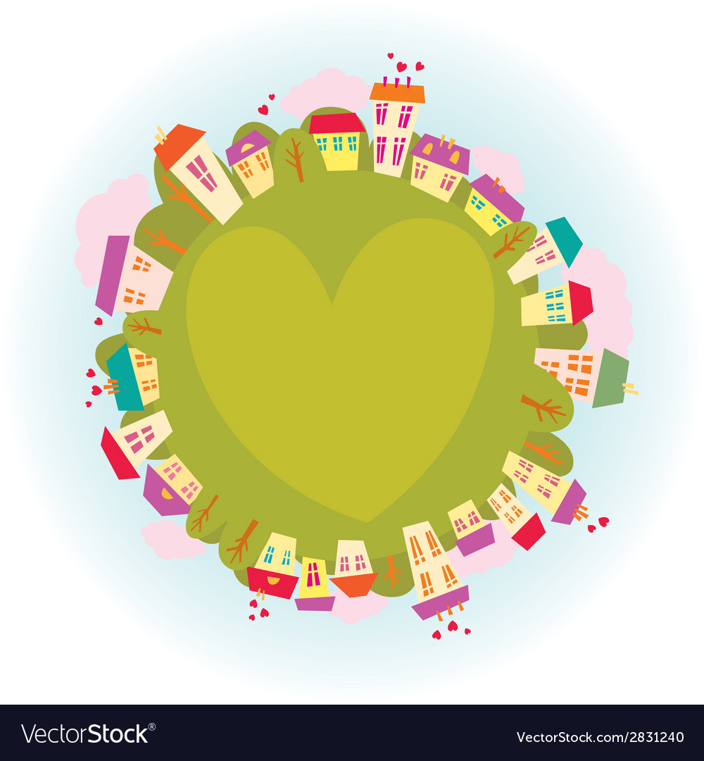 Planet of love vector | Price: 1 Credit (USD $1)