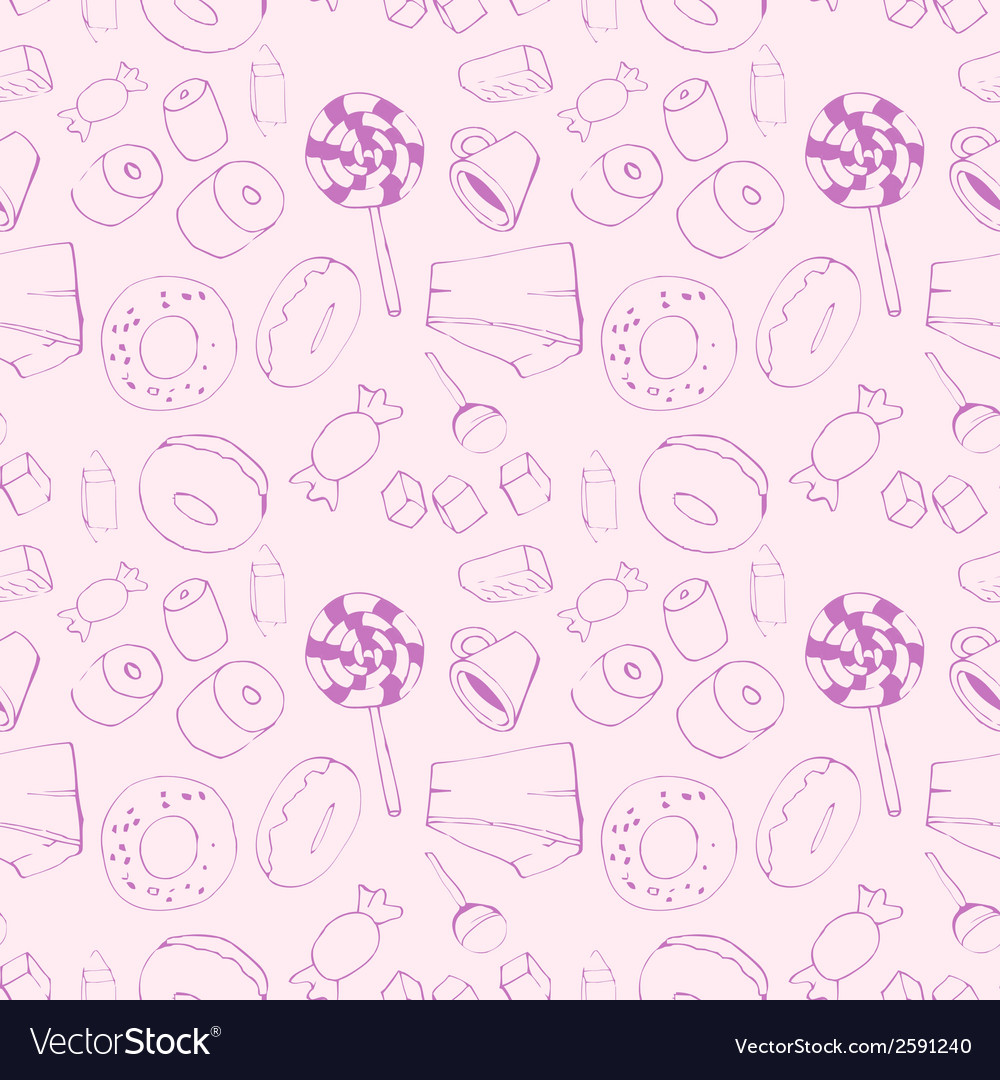 Seamless pattern with sweets vector   Price: 1 Credit (USD $1)