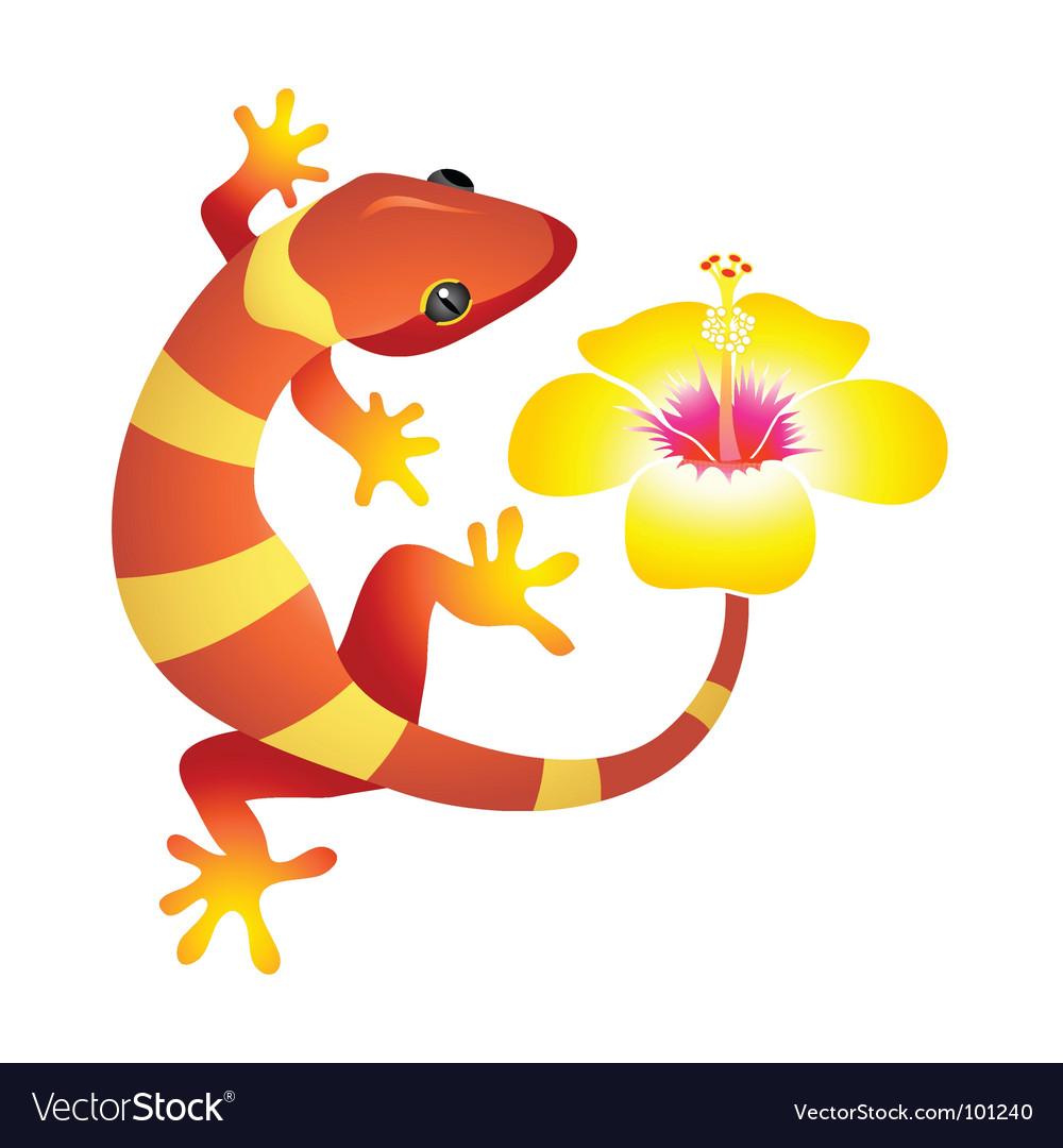 Spa gecko vector | Price: 1 Credit (USD $1)
