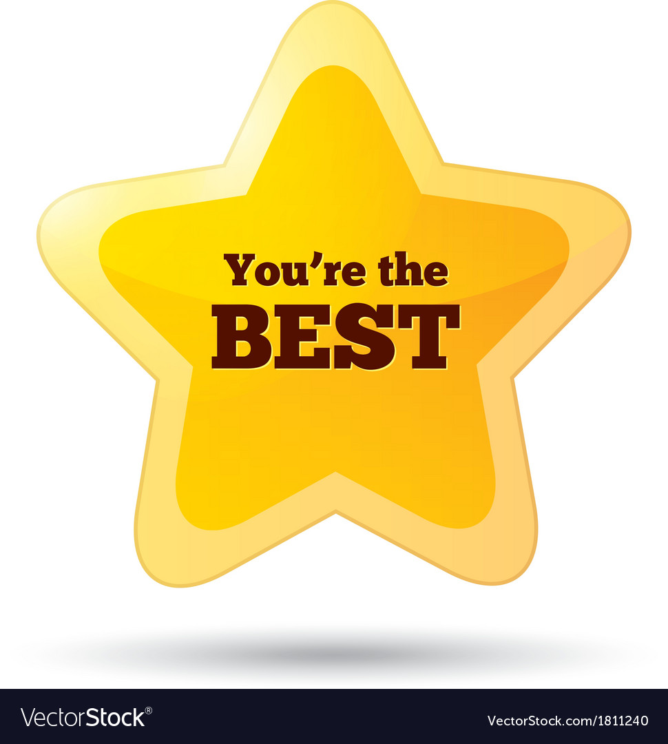 You are the best icon customer service award vector | Price: 1 Credit (USD $1)