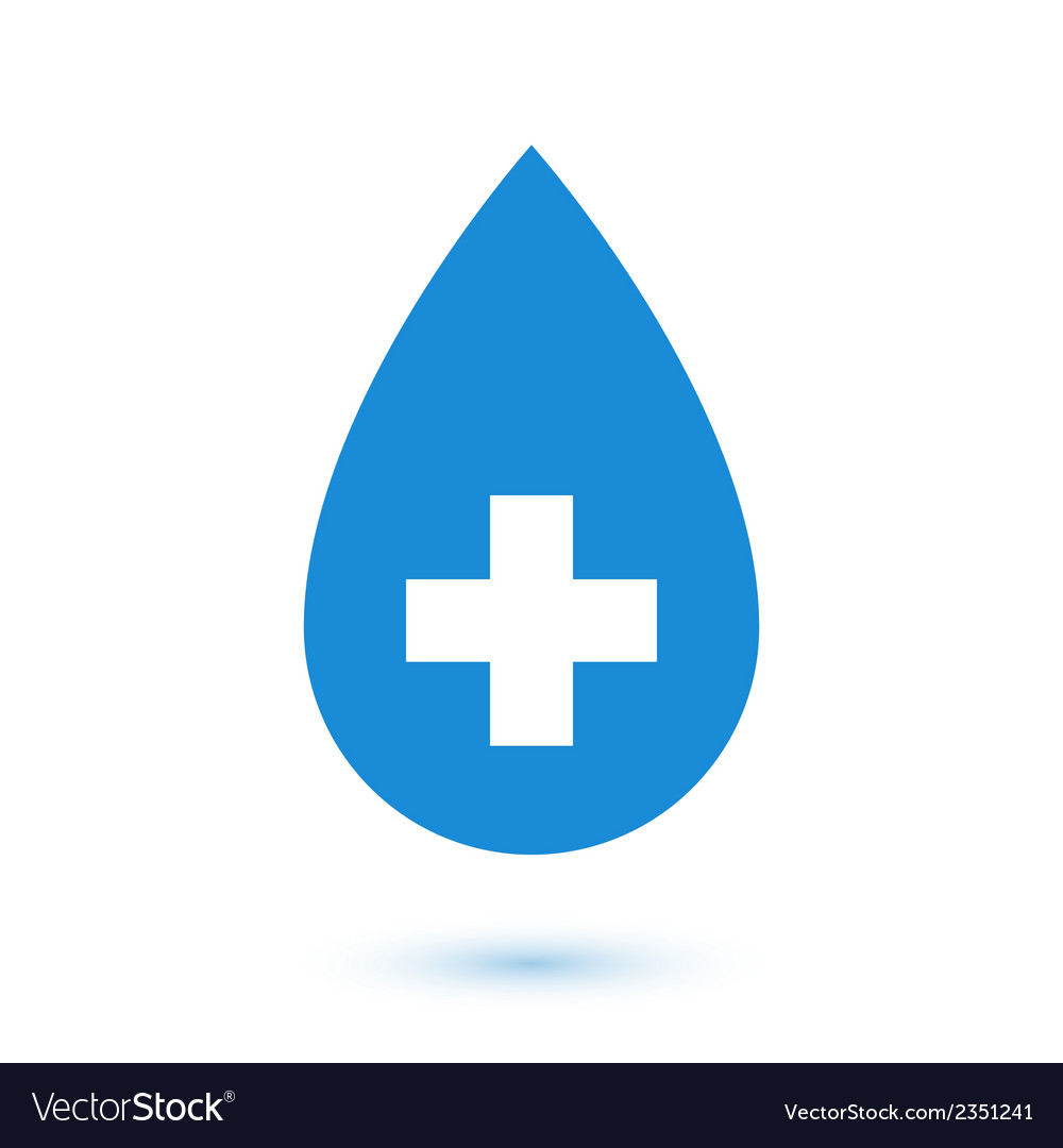Abstract flat blue drop medical symbol vector | Price: 1 Credit (USD $1)