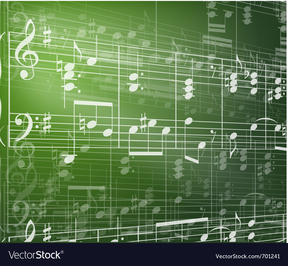 Music background with notes vector | Price: 1 Credit (USD $1)