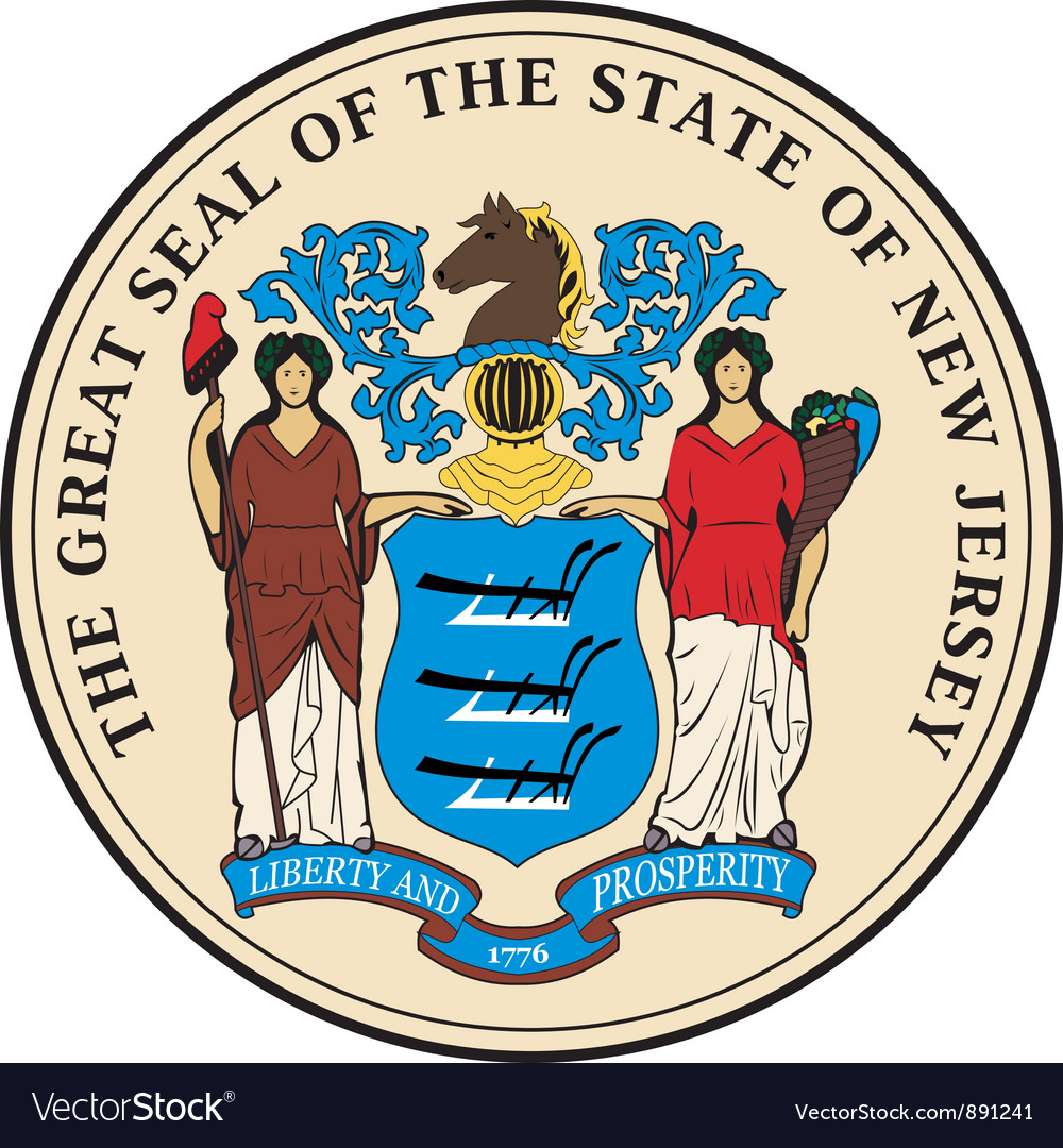 New jersey seal vector | Price: 1 Credit (USD $1)