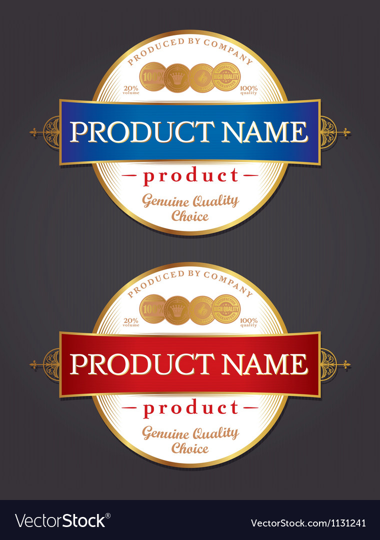 Product label design template vector | Price: 3 Credit (USD $3)