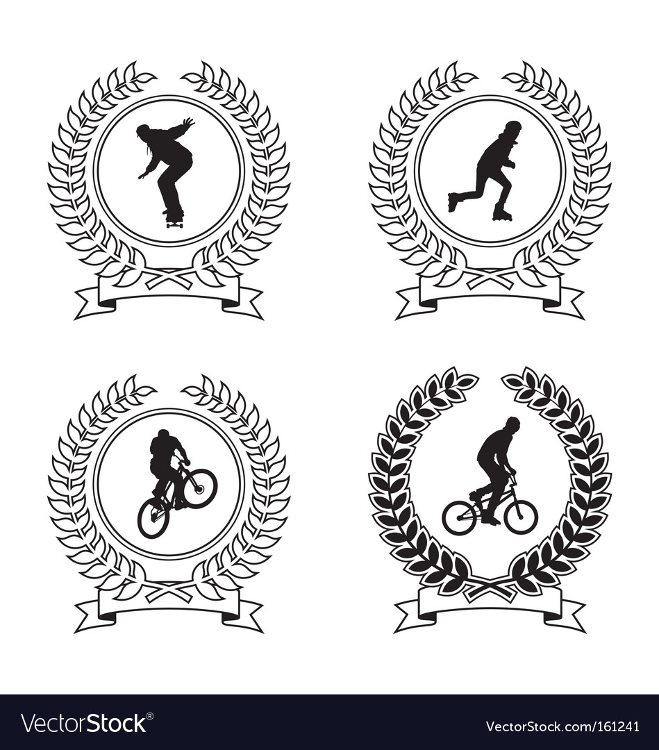 Sports emblems vector | Price: 1 Credit (USD $1)