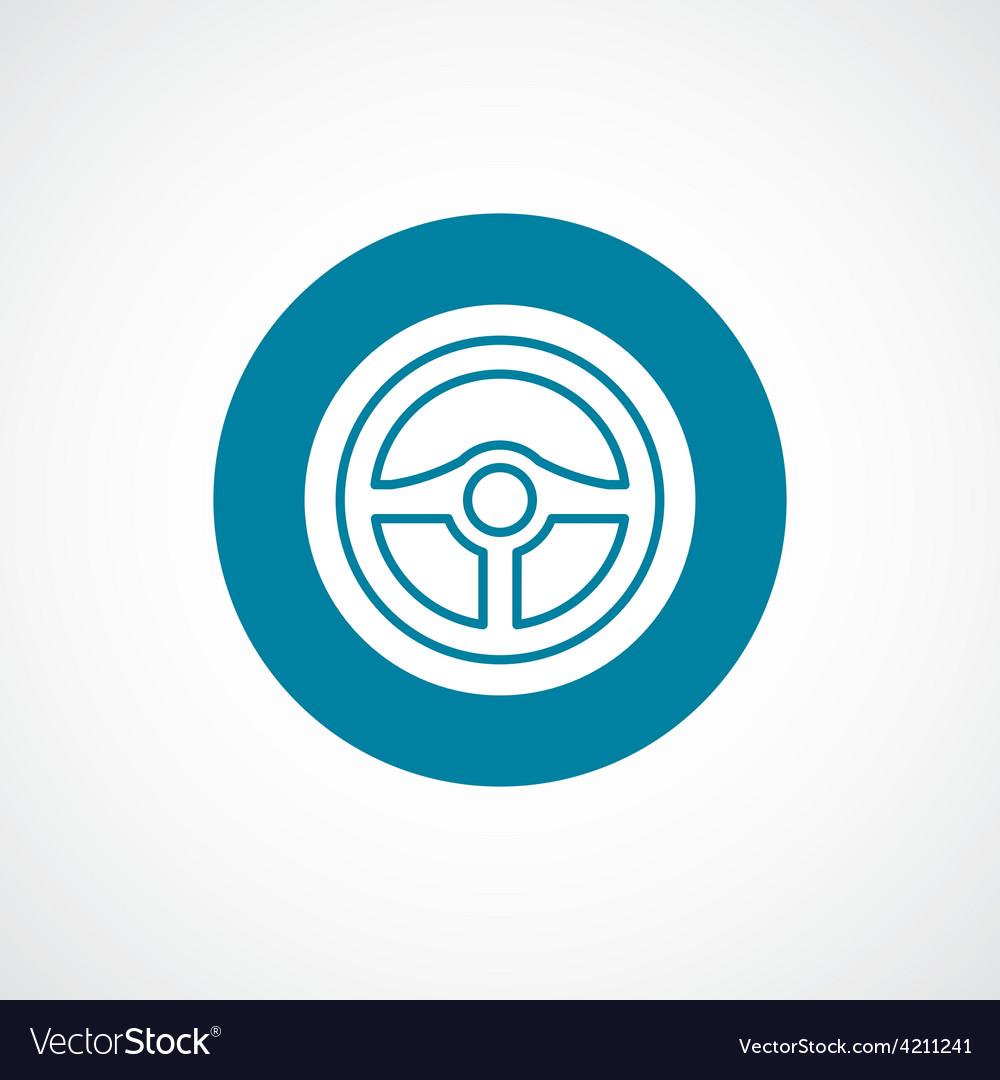 Steering wheel icon bold blue circle border vector | Price: 1 Credit (USD $1)