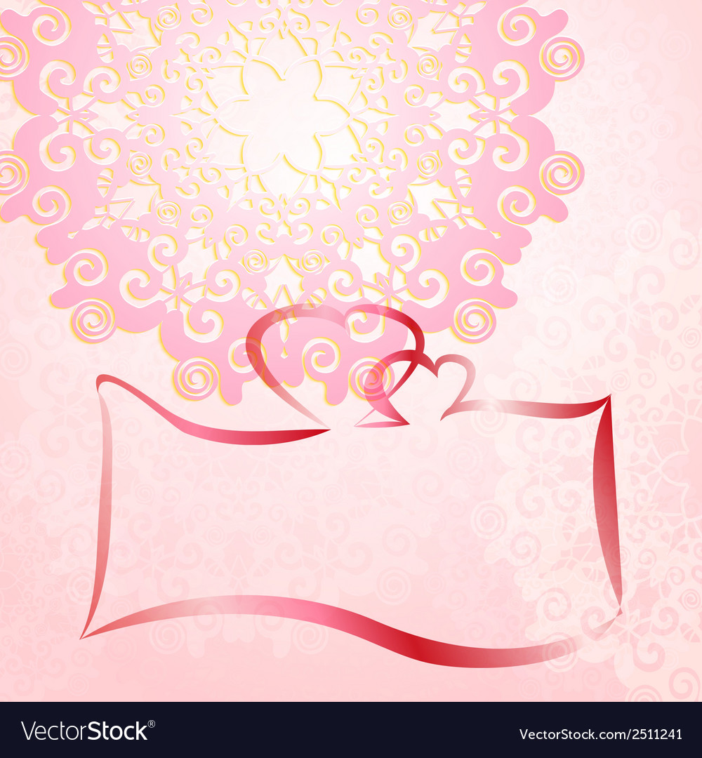 Wedding invitation card romantic ornament vector | Price: 1 Credit (USD $1)
