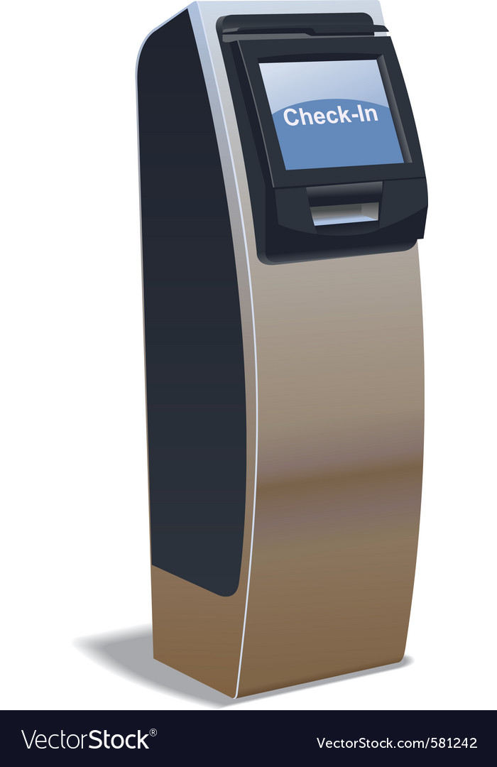 Airport kiosk vector | Price: 1 Credit (USD $1)