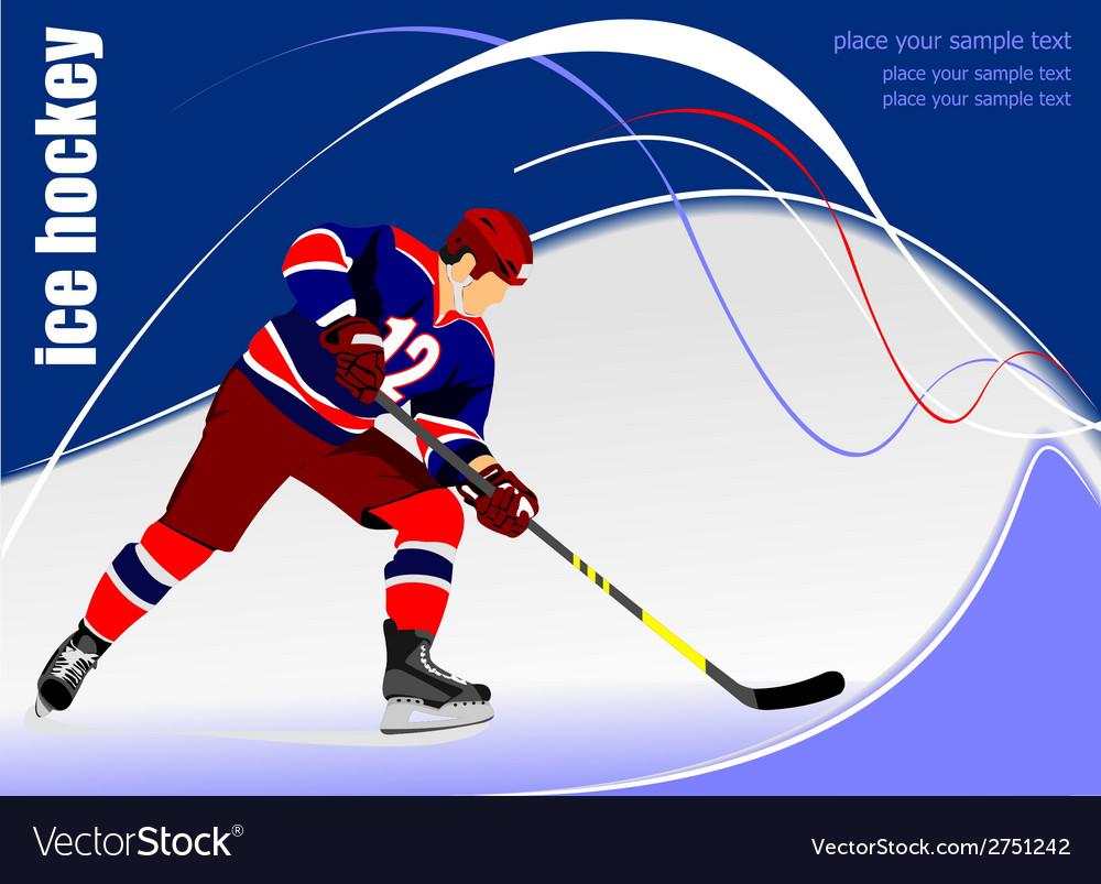 Al 0711 hockey poster 02 vector | Price: 1 Credit (USD $1)