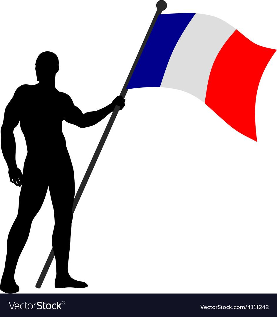 Flag bearer vector   Price: 1 Credit (USD $1)