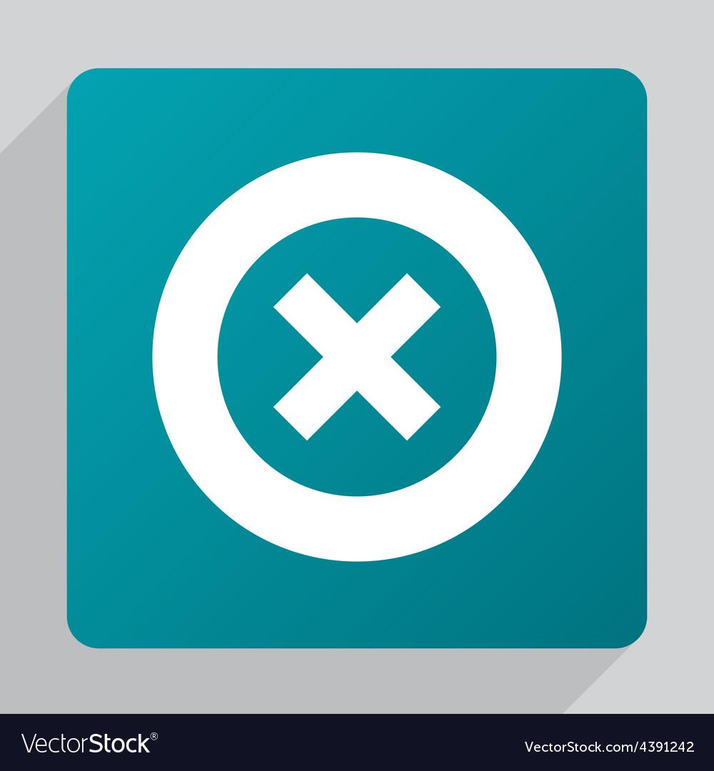 Flat close icon vector | Price: 1 Credit (USD $1)