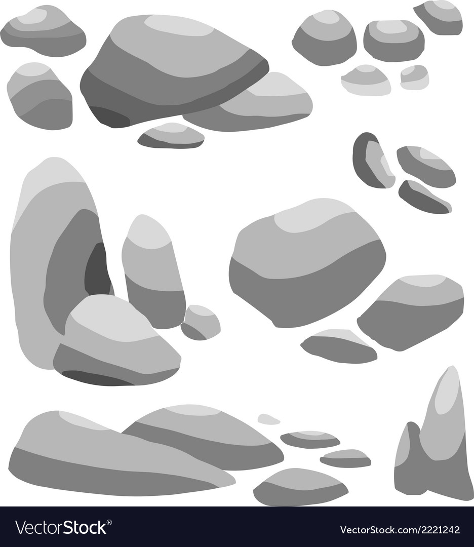Grey stone vector | Price: 1 Credit (USD $1)