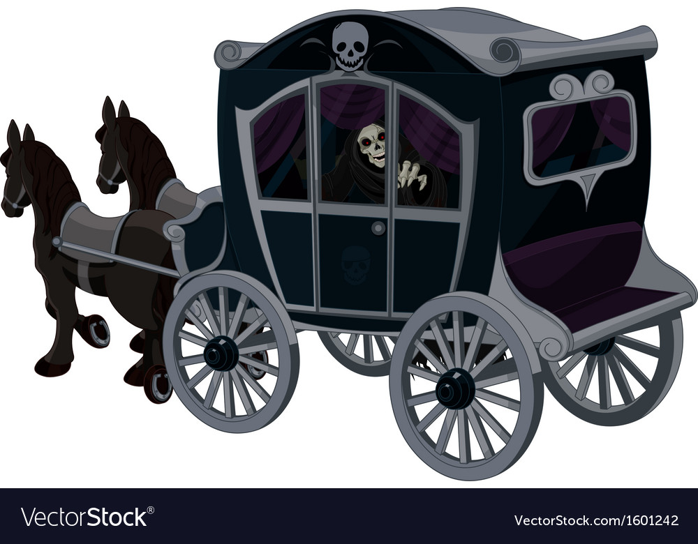 Halloween carriage vector | Price: 1 Credit (USD $1)