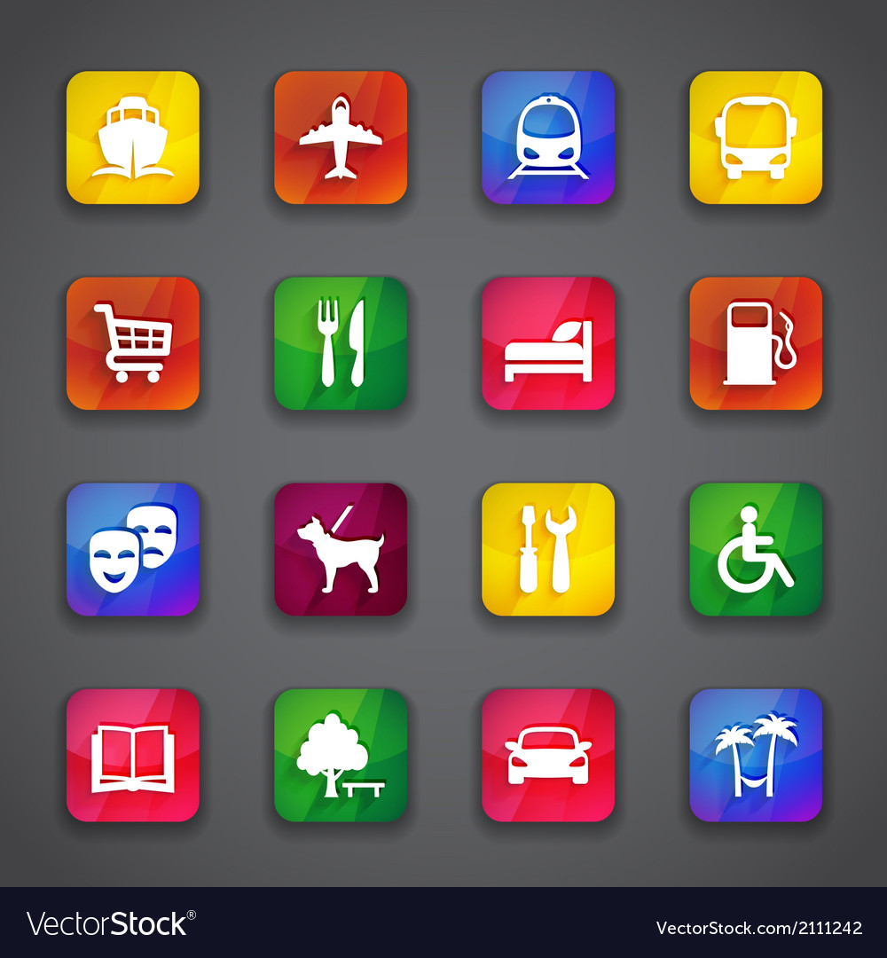 Icons on buttons vector   Price: 1 Credit (USD $1)