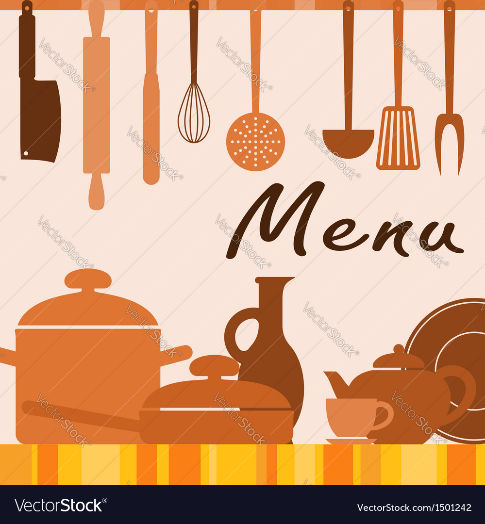Kitchen background for menu cover vector | Price: 1 Credit (USD $1)