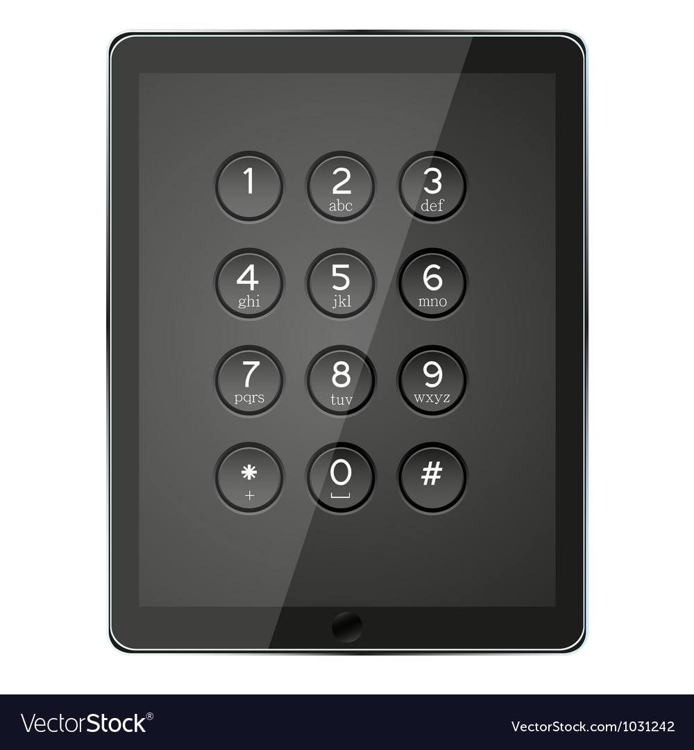Number keypad vector | Price: 1 Credit (USD $1)