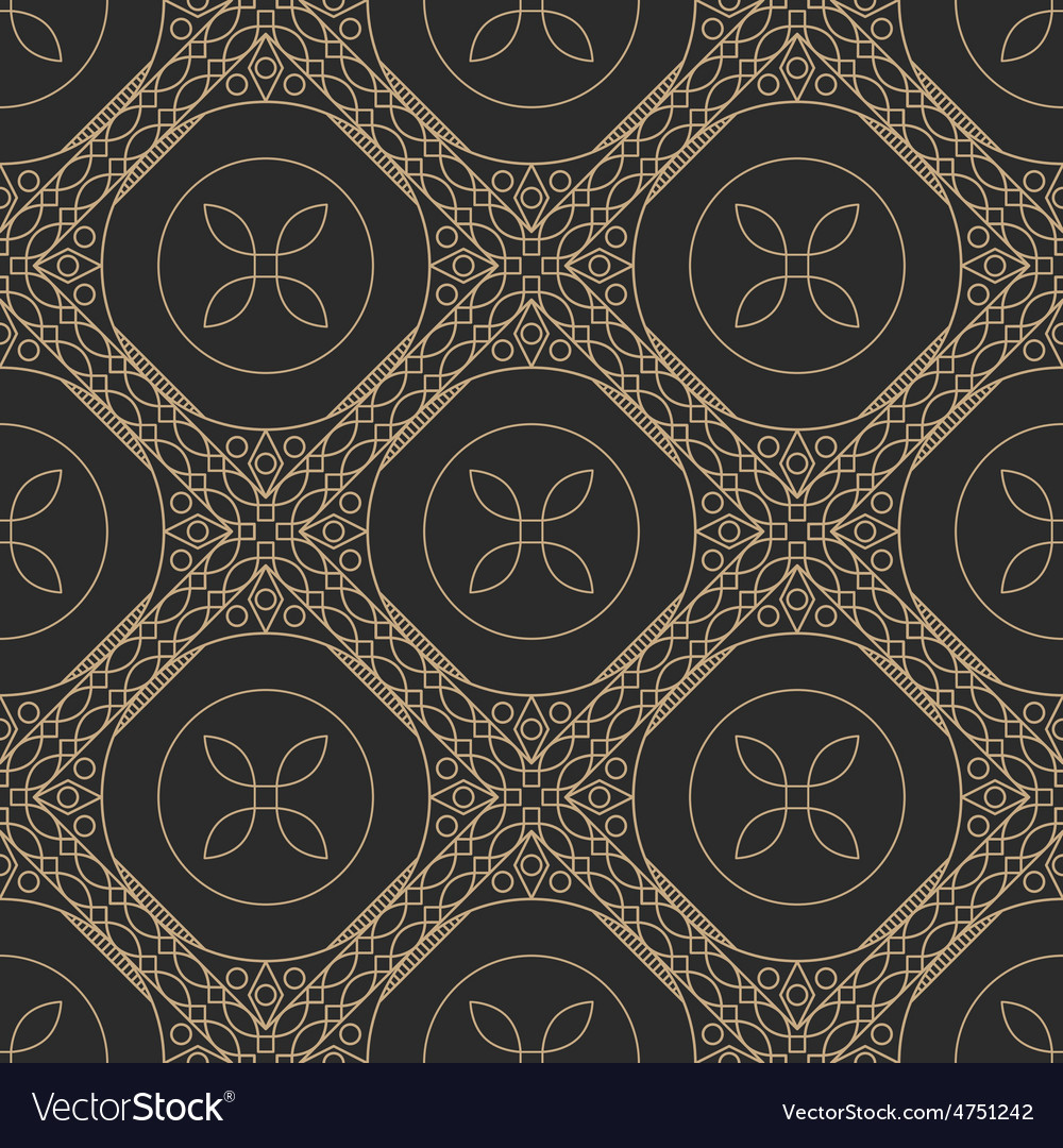 Ornamental geometric pattern vector | Price: 1 Credit (USD $1)