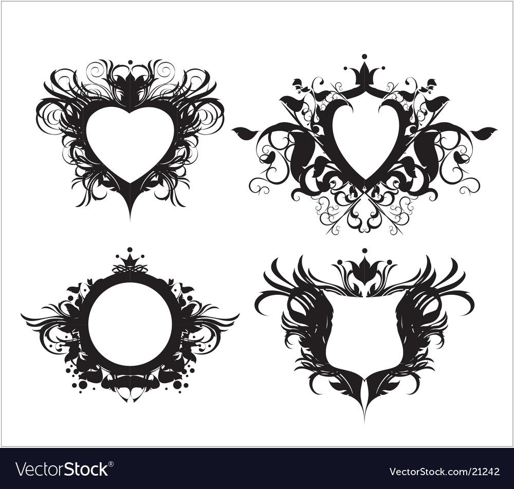 Ornate shields vector | Price: 1 Credit (USD $1)