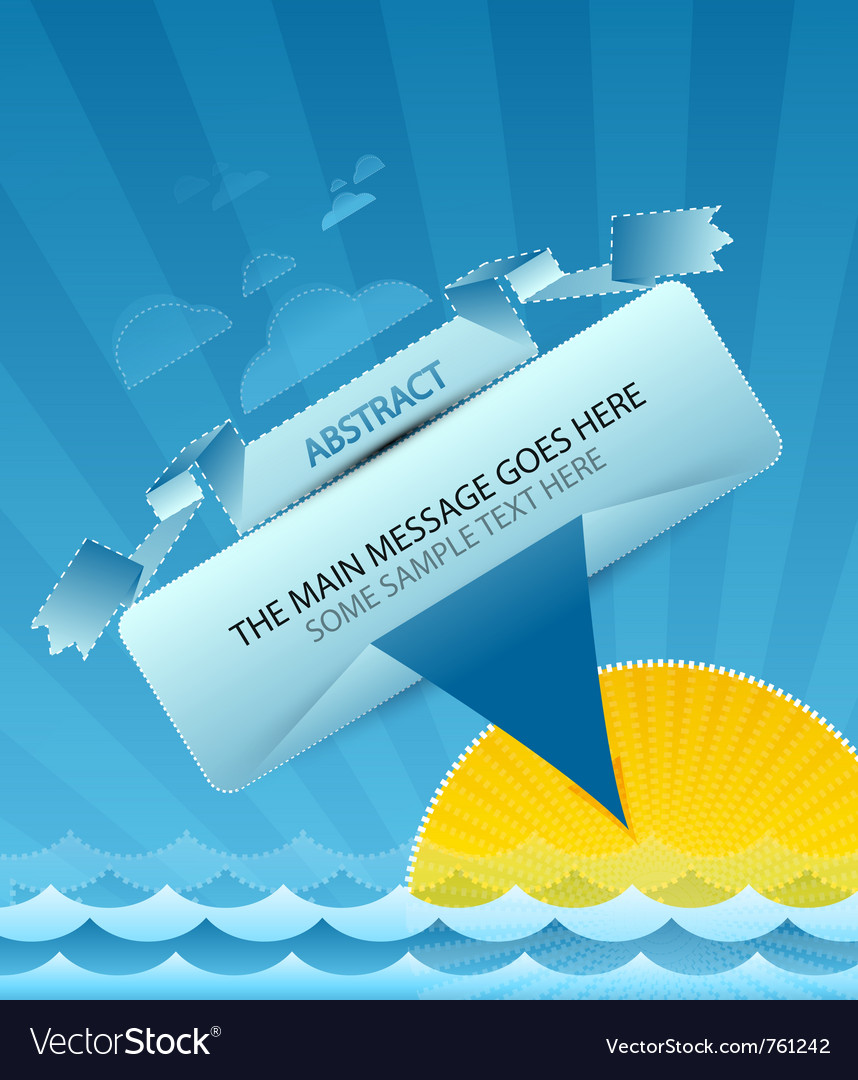 Sea message design vector | Price: 1 Credit (USD $1)