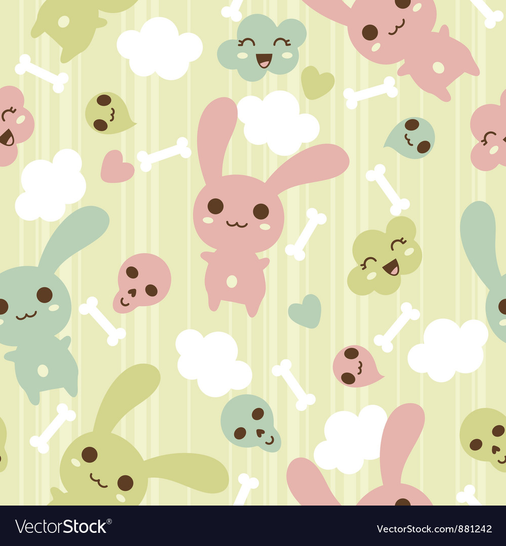 Seamless pattern with doodle kawaii vector | Price: 1 Credit (USD $1)