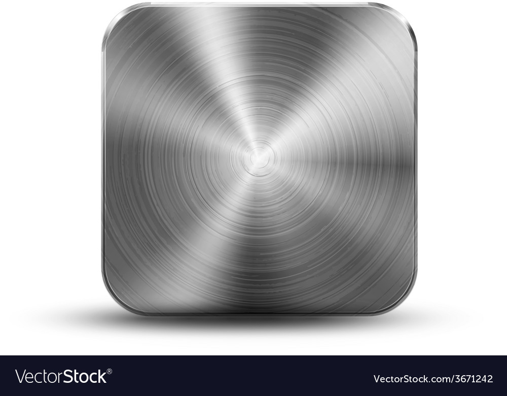 Square button metal vector | Price: 1 Credit (USD $1)