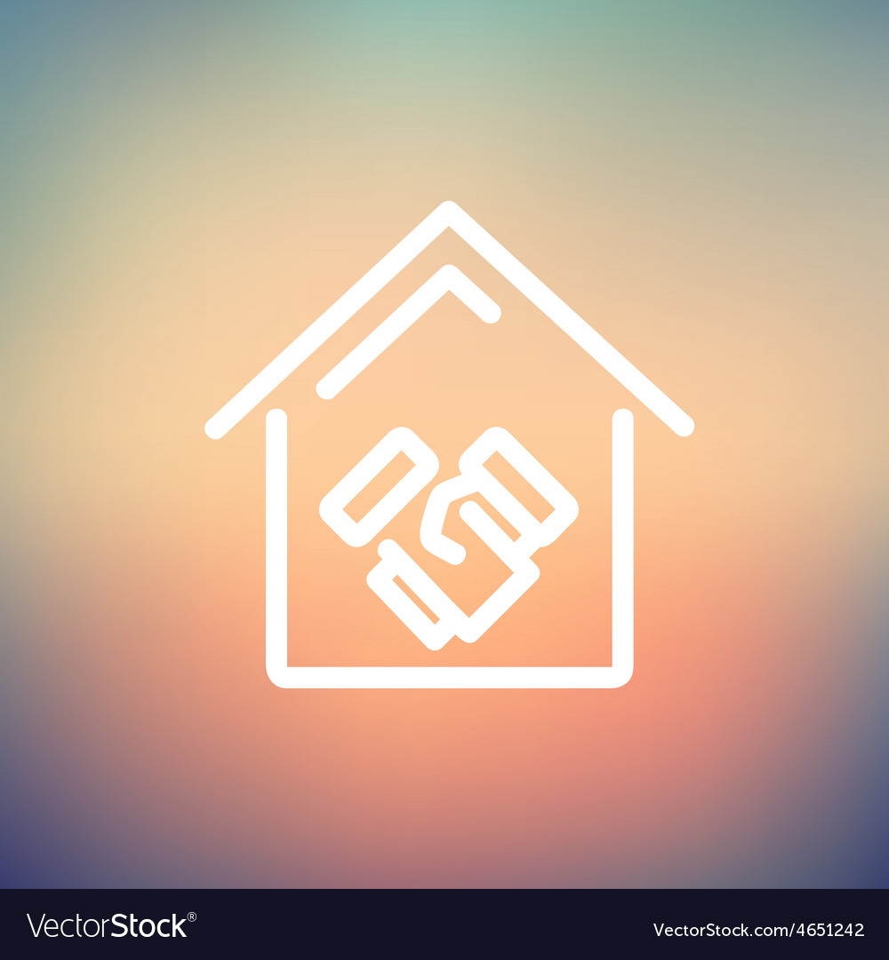 Successful real estate transactions thin line icon vector | Price: 1 Credit (USD $1)