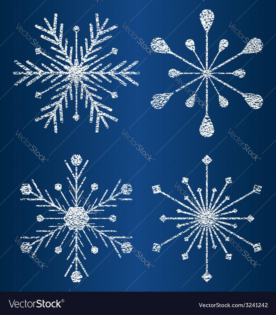 Textured snowflakes vector   Price: 1 Credit (USD $1)