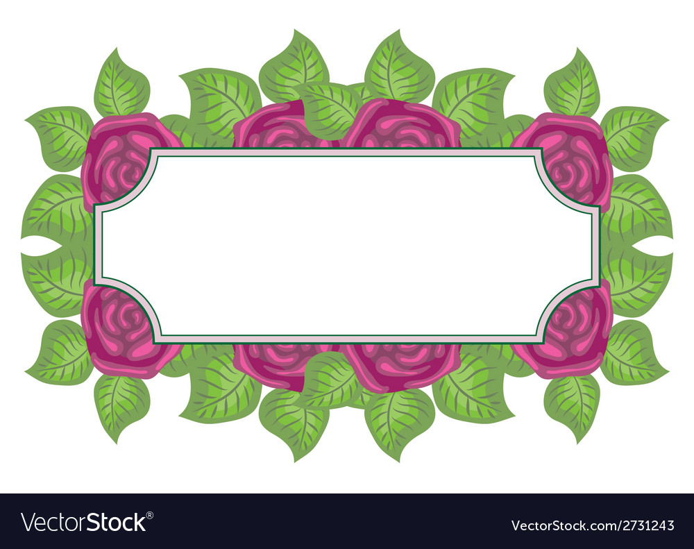 Beautiful floral label with space for text vector | Price: 1 Credit (USD $1)