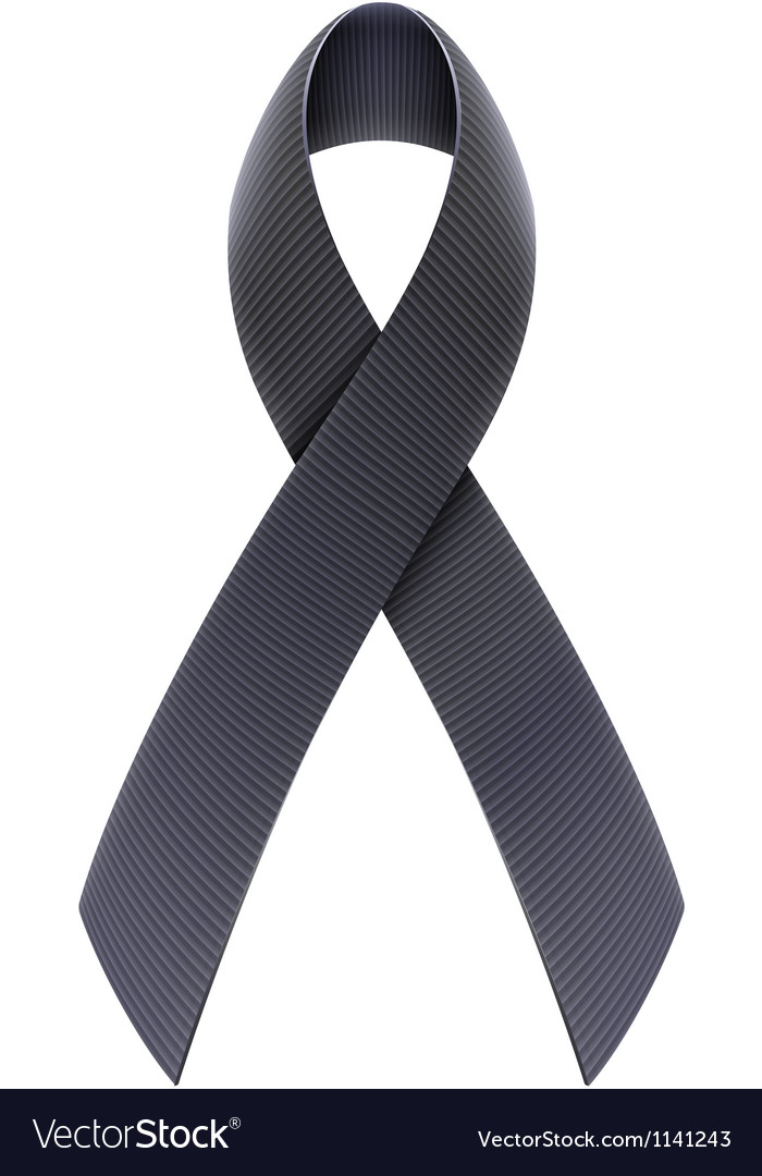 Black awareness ribbon vector | Price: 1 Credit (USD $1)