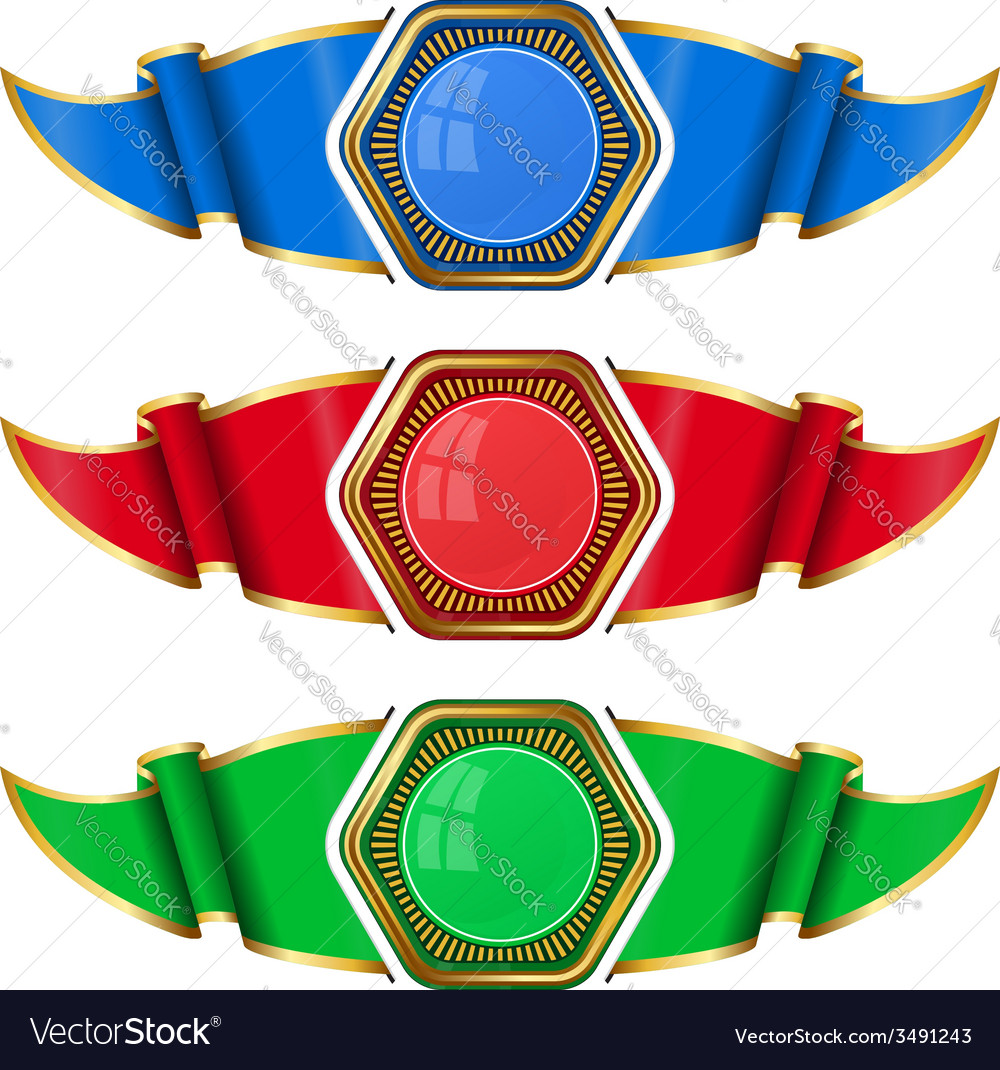 Collection frame with ribbon vector