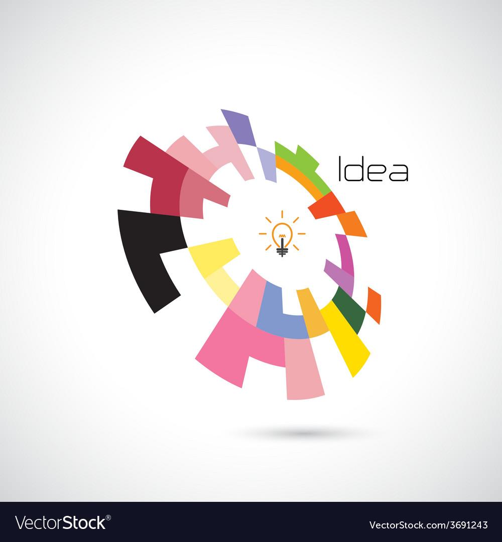 Creative circle abstract logo design vector | Price: 1 Credit (USD $1)