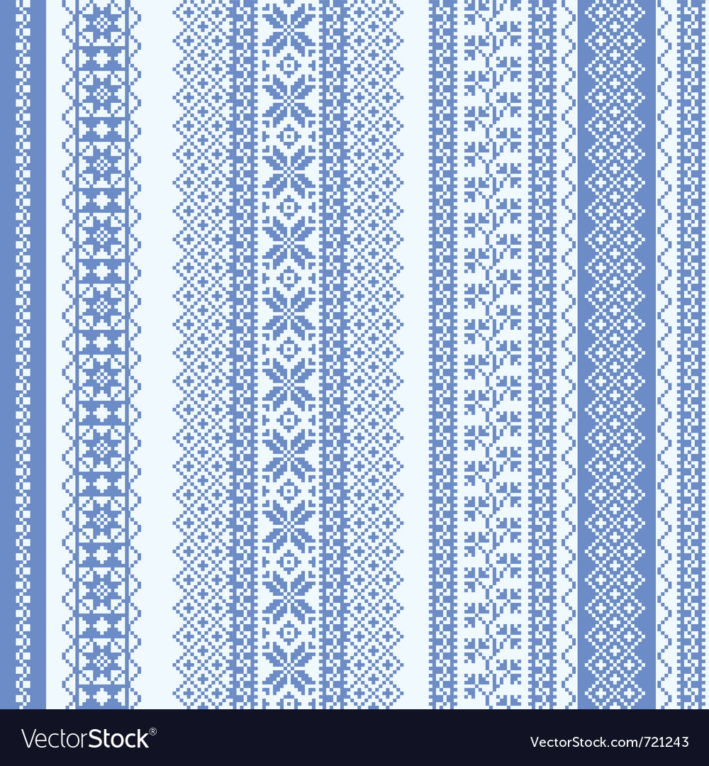 Embroidery seamless pattern vector | Price: 1 Credit (USD $1)