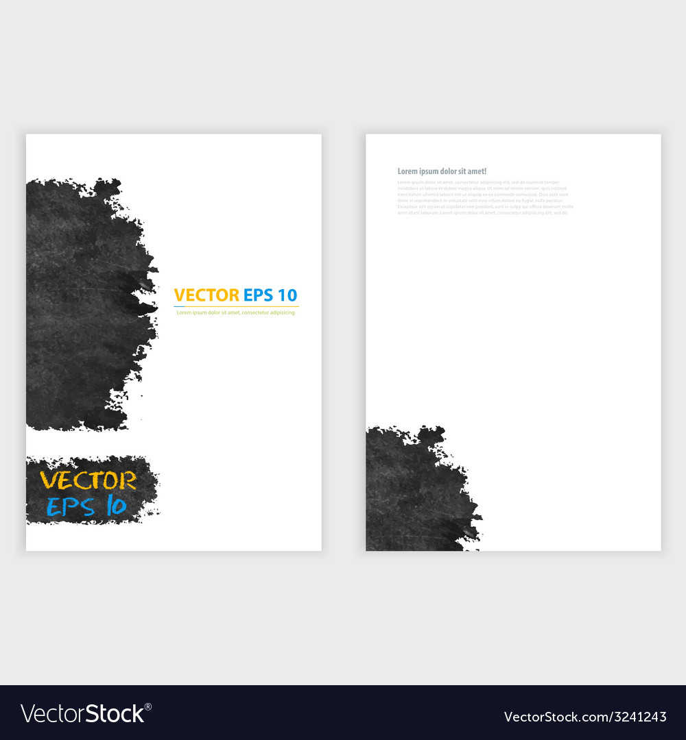 Grunge template flyer design vector | Price: 1 Credit (USD $1)