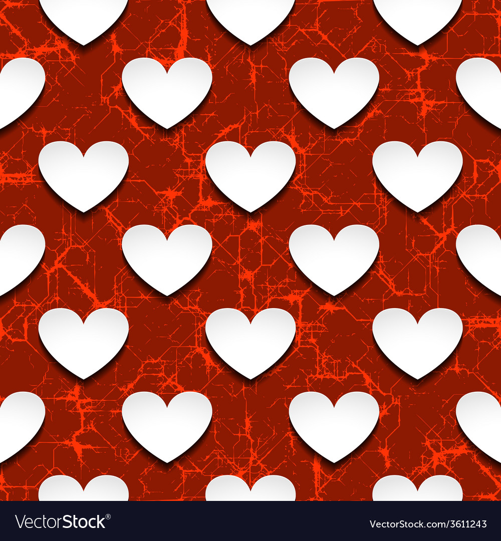 Hearts with shadow vector | Price: 1 Credit (USD $1)