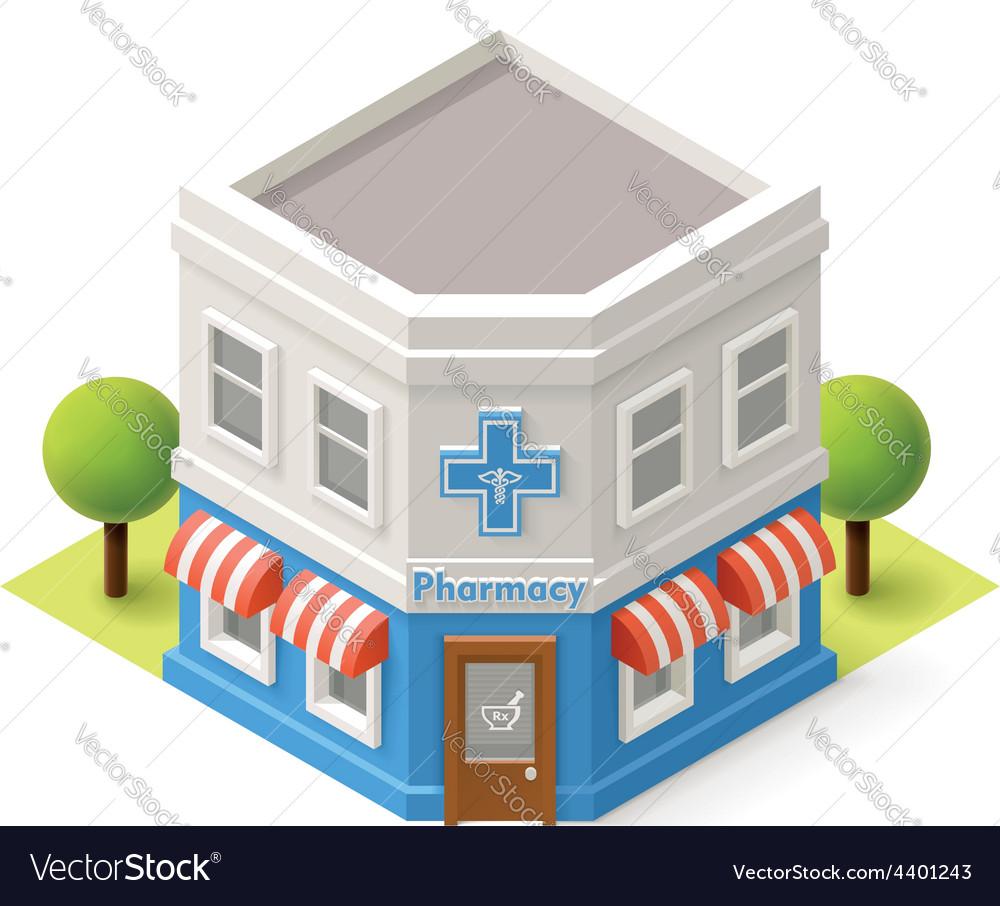 Isometric drugstore vector | Price: 3 Credit (USD $3)