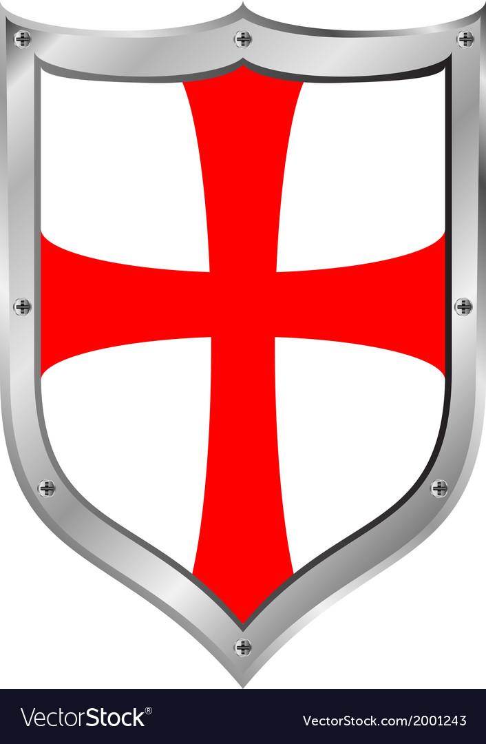 Knights templar shield vector | Price: 1 Credit (USD $1)